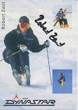 Robert Zant ski alpin freestyle autografiada mapa original firmado 380151