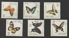 Vietnam Stamps Complete Set Butterflies Collection Scott # 398 - 403 MNH