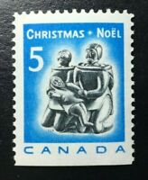 Canada #488as MNH, Christmas - Inuit Soapstone Carving Booklet Stamp 1968