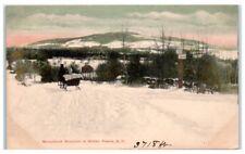 Early 1900s Monadnock Mountain in Winter, Keene, NH Postcard