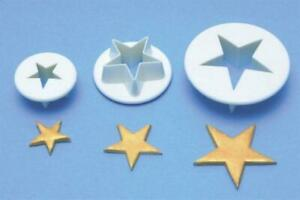 PME STAR CUTTERS - 3 SET - CHRISTMAS CAKE DECORATING - NEW