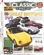 Lot of 6 Classic & Sports Car Magazine 2007 January-June Jaguar Triumph Mercedes