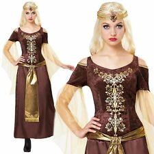 Femmes Médiéval Tudor Renaissance Maid Marion Costume Déguisement Livre Jour