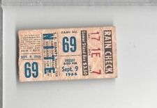 1966 9/9 baseball ticket stub San Francisco Giants Chicago Cubs, Ernie Banks RBI