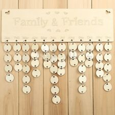 Wooden Family Birthday Reminder Plaque Sign Board Calendar Tags Christmas Gift