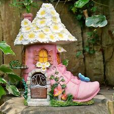Secret Garden Fairy House In A Shoe Heel Outdoor Sculpture Decorative Ornament