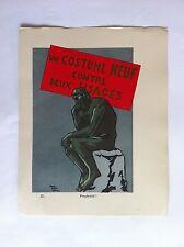 Perplexite SANSTICKETS Dessin illustration POL FERJAC HUMOUR 1942