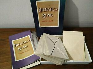 RM46) Boxed vintage/retro Hieratica Bond writing pad w envelopes & blotter