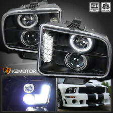 2005-2009 Ford Mustang LED DRL Projector Headlights Black