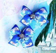 Disney Frozen Princess Anna Elsa Inspired Handmade Hair Clips Dress Up Costume