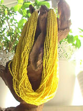 NATIVE AMERICAN YELLOW DESERT NECKLACE SEED BEAD HANDMADE HUGE BLESSED SUMMER