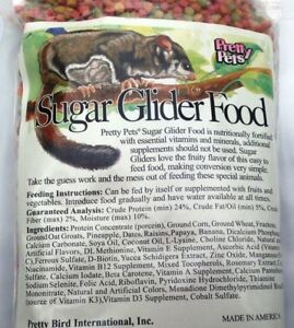 SUGAR GLIDER FOOD Pretty Pets Sugar Glider Pellets, Sugarglider