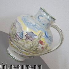 alter 12 Liter Ulmer Keramik Krug Karaffe Vase pastellfarben handbemalt 50er J.