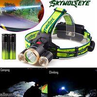 10000Lm 3X XML T6+2R5 LED Headlight Headlamp Flashlight 18650 Torch Light Lamp
