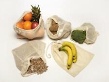 Reusable Mesh Produce Bag Unbleached Organic Cotton Washable Fair Trade Set of 2