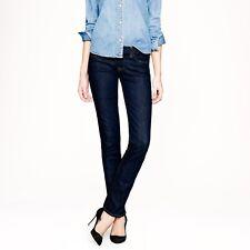 J. Crew Womens Jeans Sz 28S Stretch Matchstick Dark Wash Straight Leg 98% Cotton