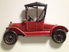 ☀️ Antique Sexton Cast Metal Iron RED CAR Wall Decoration 1960s Collectible