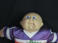 VINTAGE 1982 CABBAGE PATCH KID FOOTBALL PLAYER JERSEY BLUE EYES BALD BOY OUTFIT