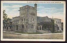 Postcard SHARON Pennsylvania/PA St John's Episcopal Church & Parish House 1920's