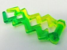 LEGO - Wave Angular / Electric Zigzag - Neon Green w/ Trans-Bright Green