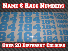 Race Number Name Vinyl Sticker Decals, RC Bodyshell 1/10 1/8 Nitro Electric D2