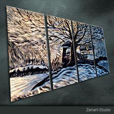 Original Metal Wall Art Shining Painting Sculpture Indoor Outdoor Decor-Zenart