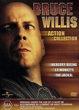 Mercury Rising - 12 Monkeys - Jackal - Action / Thriller - NEW DVD