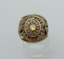 US Military Academy West Point Rings 1968 size 8 , Gold 10k , Citrine Stones