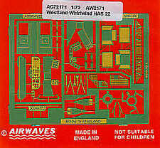 Airwaves 1/72 Westland Whirlwind HAS.22 etch for Airfix kit # AEC72171