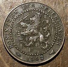 TRES BELLE PIECE DE 1 CENT PAYS BAS NETHERLAND 1902 (39)