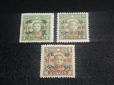 CHINA 1943 Sc#8N57-59 Postal Service Complete Set MNH-XF