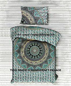 Indische Bettbezug Quilt Abdeckung Einzelne Baumwolle Decke Elefant-Mandala Boho