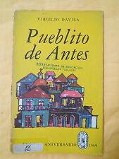 Panfleto Pueblito de antes por Virgilio Davila Puerto Rico 1969