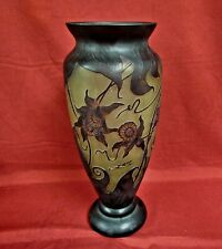 Large Galle Signed Cameo Vase