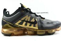 Nike Air Vapormax 2019 (Mens Size 10.5) Shoes AR6631 002 Black Metallic Gold