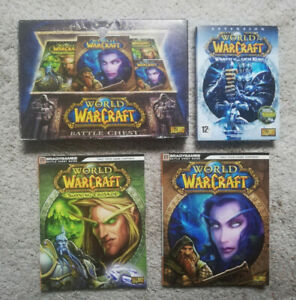 Coffret WOW World Of Warcraft battle chest + guides + ext Warth of the lich king
