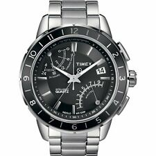 Timex Intelligent Quartz Mens Watch Stainless Steel Brand New Boxed T2N498AU