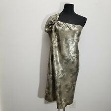 3.1 Phillip Lim Womens Dress Size 6 8 Silk Sequin One Shoulder Shift Metallic