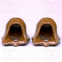 2 x Star Wars LEGO® Brown Robe Hoods for Sith Lord & Jedi Minifigs Genuine Parts
