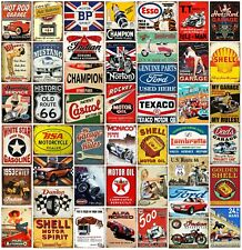 Metal wall signs plaques garage mancave vintage retro style shed car Automobilia