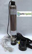"""Elettropompa pompa sommersa per pozzi da 4"""" 1 HP autoraffreddata a 7 giranti"""