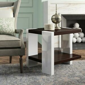 1BRANDNEW Ralph Lauren Aldrich End Table- - Modern Icon - Chrome&Mahogany