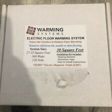 Warming Systems Electric Floor Warming Kit 30 sq ft. 33 ohms 120v 3amp 360 Watts
