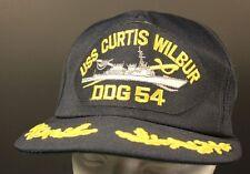 USS Curtis Wilbur DDG 54 Captain Hat Navy Naval Destroyer Trucker Cap