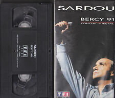 MICHEL SARDOU. BERCY 91. CONCERT INTEGRAL. VHS FRANCE 1991. 120 MINUTES.