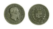 s644_31) Vittorio Emanuele II Re d'Italia (1861-1878) - 1 Lira 1867 M