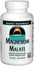 Source Naturals - Magnesium Malate, 1250mg x 360 Tablets