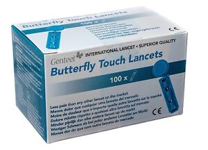 New Genteel Butterfly Touch Lancets Lancet Variable Gauge 32g-36g
