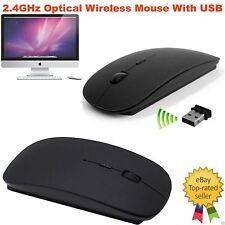 2.4GHz Ottico Wireless Senza filo Mouse Scorrevole per PC Portatile Computer USB