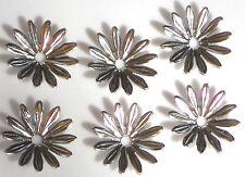 #1397 Vintage Beads Flowers Connectors Spacer Gun Metal Caps Silver 15mm Daisy